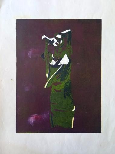 #5, 35 x 50, lino print on paper - €85,-