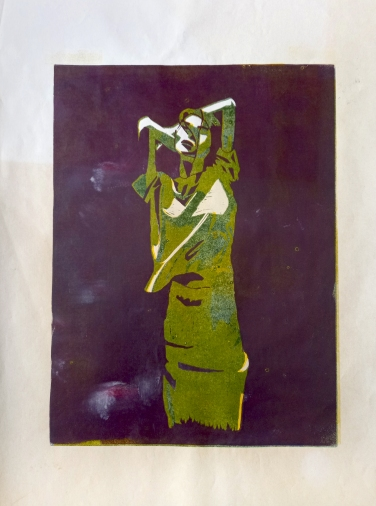 #4, 35 x 50, lino print on paper - €85,-