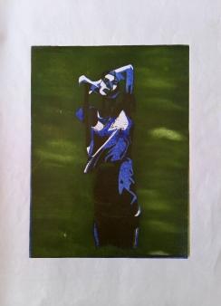 #3, 35 x 50, lino print on paper - €85,-
