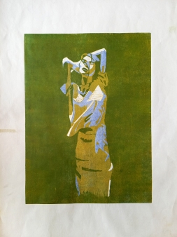 #2, 35 x 50, lino print on paper - €85,-