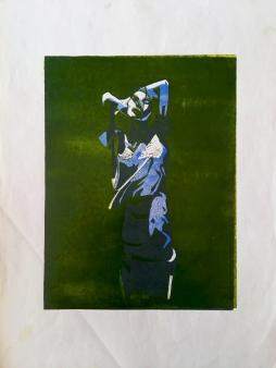 #1, 35 x 50, lino print on paper - €85,-